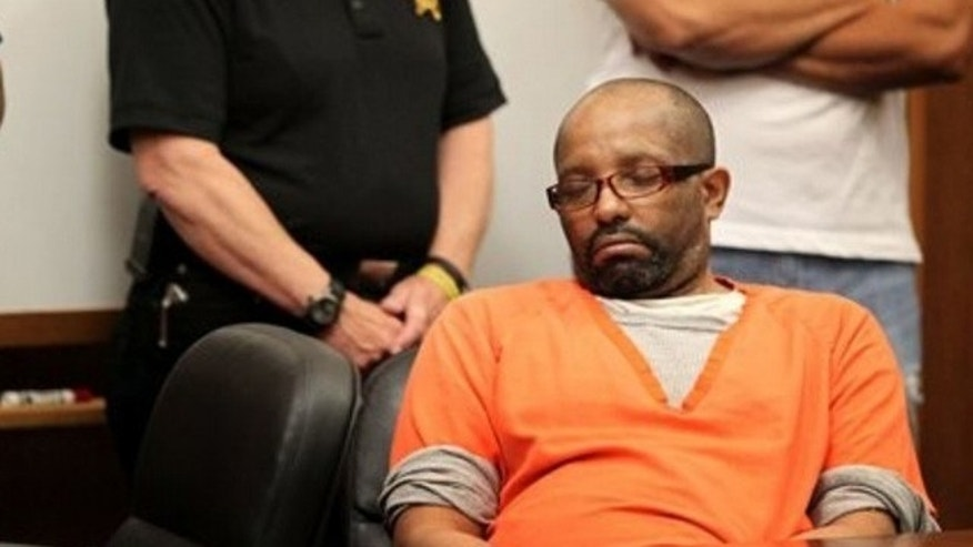 Aug. 12: Anthony Sowell sits with his eyes close during the court session in Cleveland.