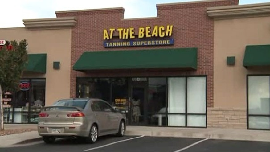 This screengrab shows the tanning salon where the hot car incident took place.