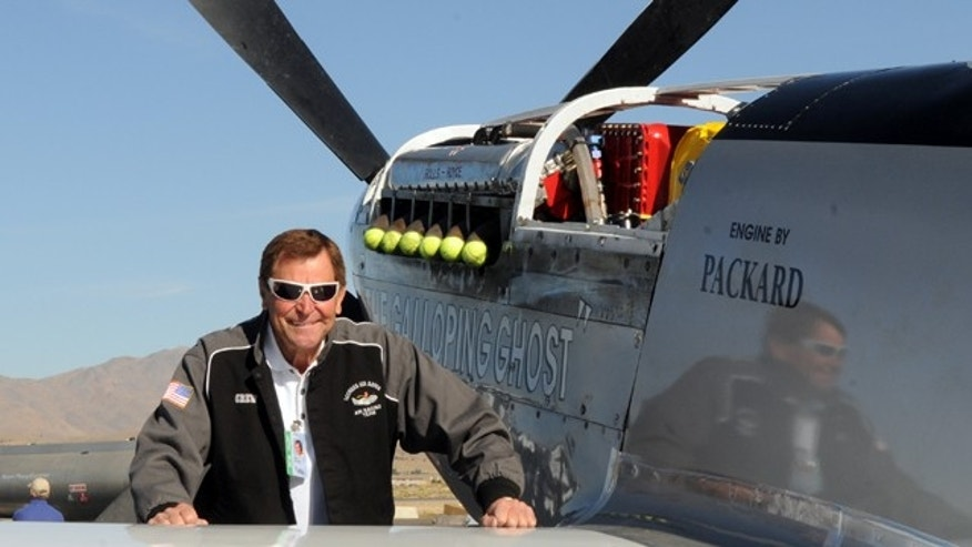 Sept. 15, 2010: Llongtime Reno Air Race pilot Jimmy Leeward is seen with his P51 Mustang.