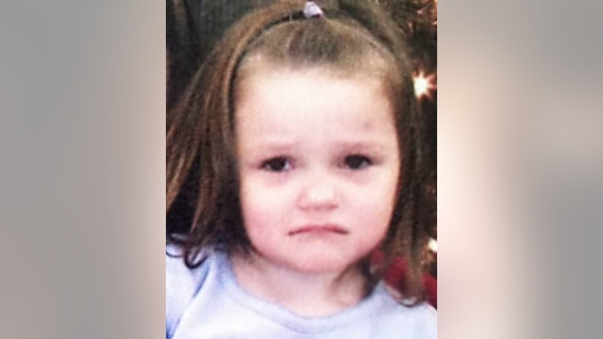 This undated photo, provided by the National Center for Missing & Exploited Children, shows 3-year-old Aliayah Lunsford. The child was last seen Saturday at her home in Bendale, W.Va.