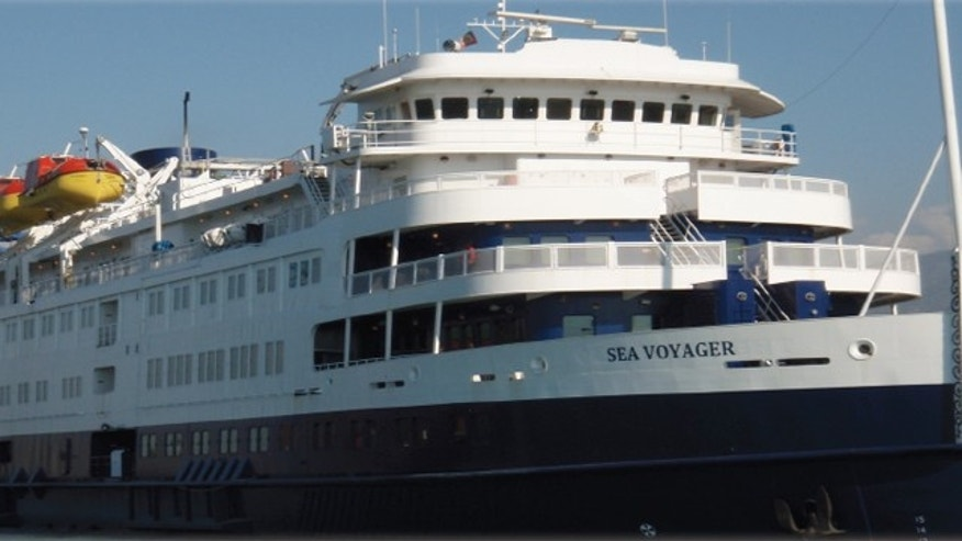St. Mary's College of Maryland has moved some students into this luxurious cruise ship, now docked at the waterfront campus during dorm repairs.