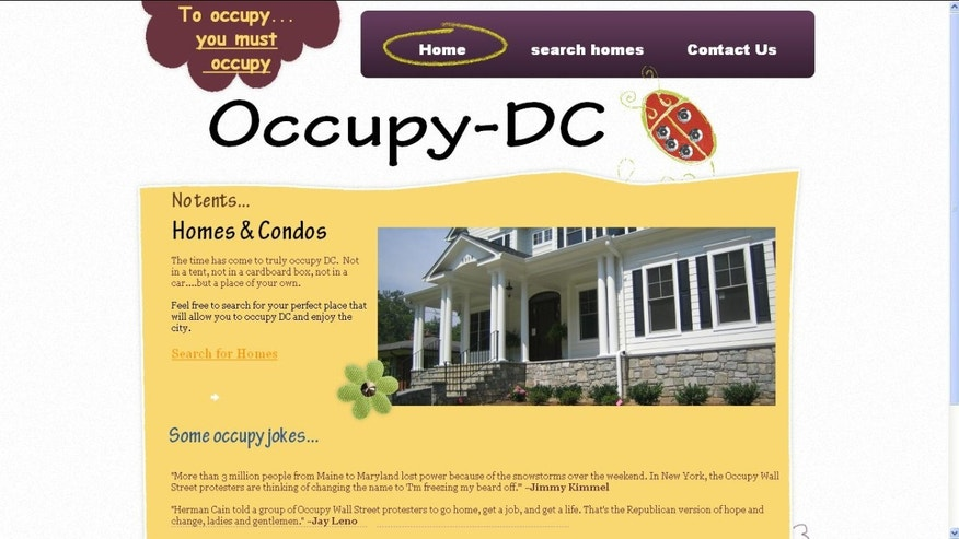 """A similar site created by Real Estate Agent Jordan Fainberg for listings in Washington, D.C. where visitors are urged that, """"The time has come to truly occupy DC.  Not in a tent, not in a cardboard box, not in a car....but a place of your own."""""""