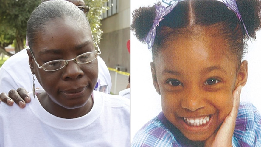 "Jerice Hunter, left, was arrested on child abuse charges ""directly related to Jhessye"" Shockley, right, who has been missing since Oct. 11, 2011, police said."