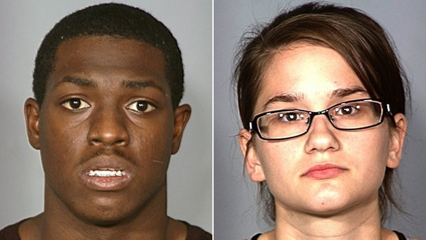 These undated photos provided by the Las Vegas Metropolitan Police Department show Anthony Stiger, left, and Melanie Constantini, right, who were arrested on Nov. 14, 2011 after the couple was found with a bloody saw and clothing in their apartment.