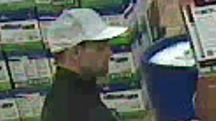 January 2, 2012: This image made from surveillance video, provided by the West Wendover Police Department, shows an unidentified male who police suspect is one of two people involved in the killing of an elderly couple in their Utah home and shooting a woman in the head outside a Nevada casino.