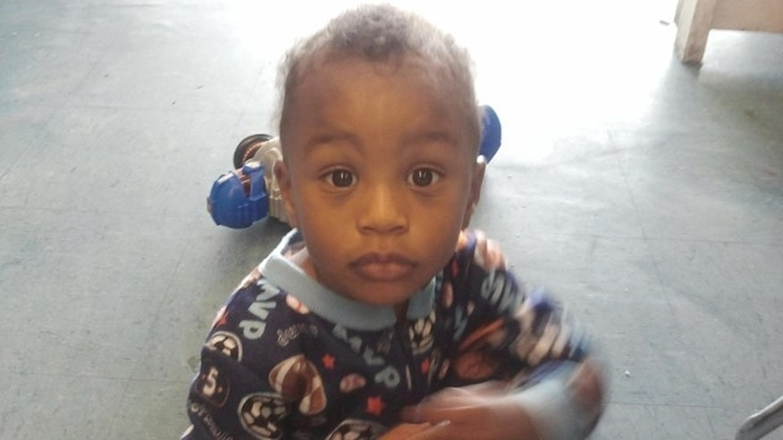 Nov. 25, 2011: In this photo provided by the Columbia S.C., Police Dept., 18-month-old Amir Jennings is shown near Columbia, S.C.