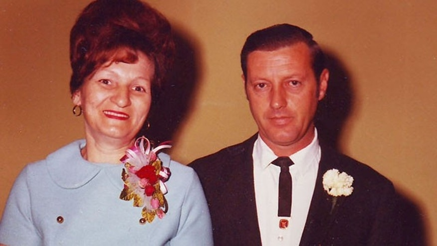 Richard and Nancy Trimmer are shown here at the wedding of their eldest son in 1972.