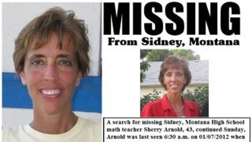 FILE: This flier shows missing teacher Sherry Arnold.