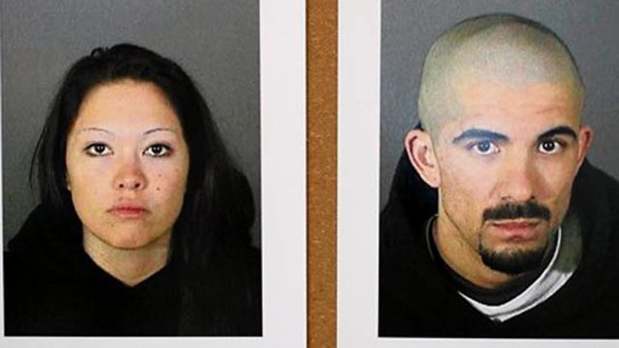 Jan. 17, 2012: These photos released by the Los Angeles Police Department show Elizabeth Ibarra, 19, and Jason Schuman, 24, who have been arrested in the slaying of El Camino Real High School soccer star Francisco Rodriguez.