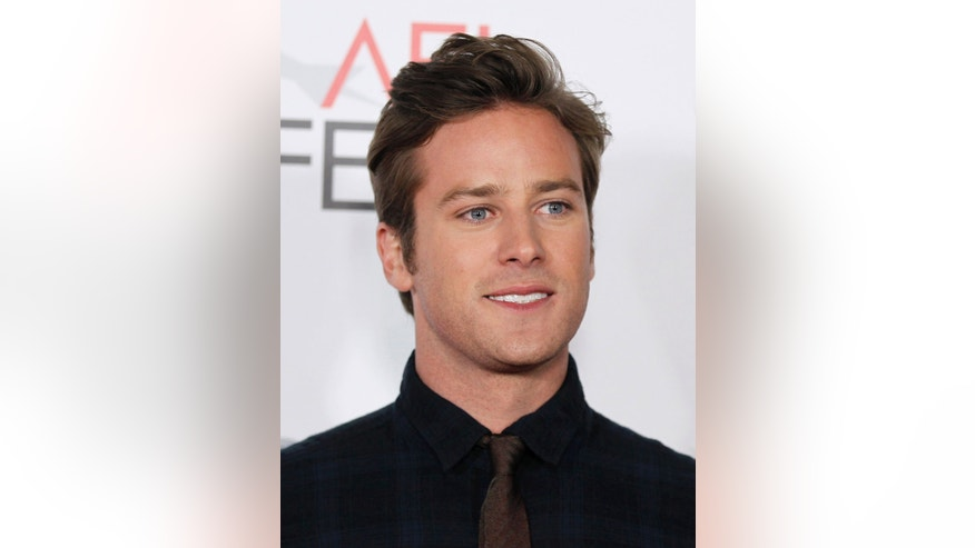 Nov. 11, 2011: ctor Armie Hammer poses for photographers after the Young Hollywood Panel during AFI FEST 2011 in Los Angeles. The town of Sierra Blanca, Texas, which is losing more and more residents every year, is attracting nationwide attention as a magnet for pot-toting celebrities who have been arrested for possession at a Border Patrol checkpoint outside town.