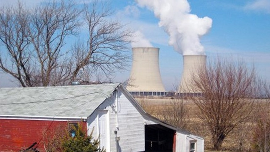 FILE - Steam escapes from Exelon Corp.'s nuclear plant in Byron, Ill.