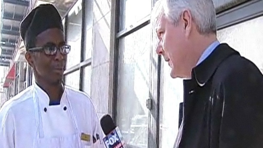 Registered sex offender, Eric Ellis, speaks with a reporter from MyFox Chicago.