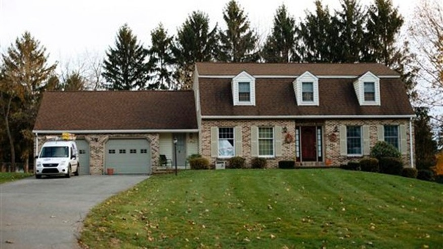 Nov. 11, 2011: In this file photo shown is the home of former Penn State University assistant football coach Jerry Sandusky, in State College, Pa.