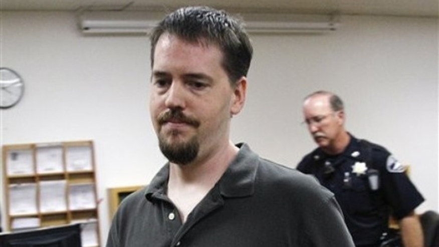 Aug. 23: Josh Powell, husband of Susan Powell, leaves a court hearing in Tacoma, Wash. Josh Powell had alleged in a petition for a restraining order that his father-in-law Chuck Cox, of Puyallup, Wash. , had threatened him and stalked him and his sons.