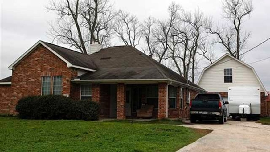 Feb. 21, 2012: The  home in Dayton, Texas. where 11 children were taken into Child Protective Services custody last month.