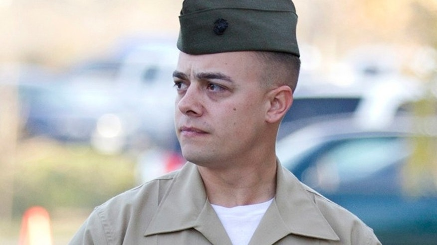Jan. 20: Marine Corps Staff Sgt. Frank Wuterich arrives for a court session at Camp Pendleton, Calif.