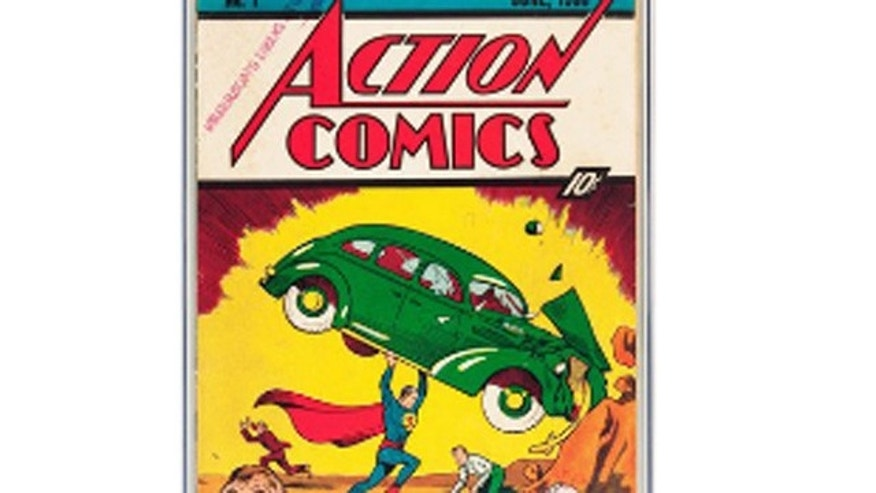 Feb. 13, 2012: This handout photo provided by Heritage Auction shows the CGC-Certified 3.0 copy of Action Comics #1 from the Billy Wright Collection at Heritage Auctions in Dallas,Texas.