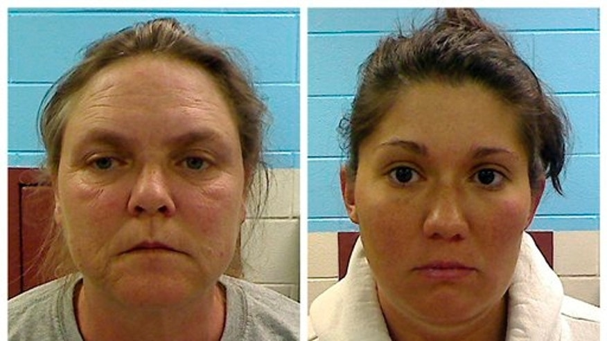 Feb. 22: This combo made from photos released by the Etowah County Sheriff's Dept. shows Joyce Hardin Garrard, 46, and Jessica Mae Hardin, 27.