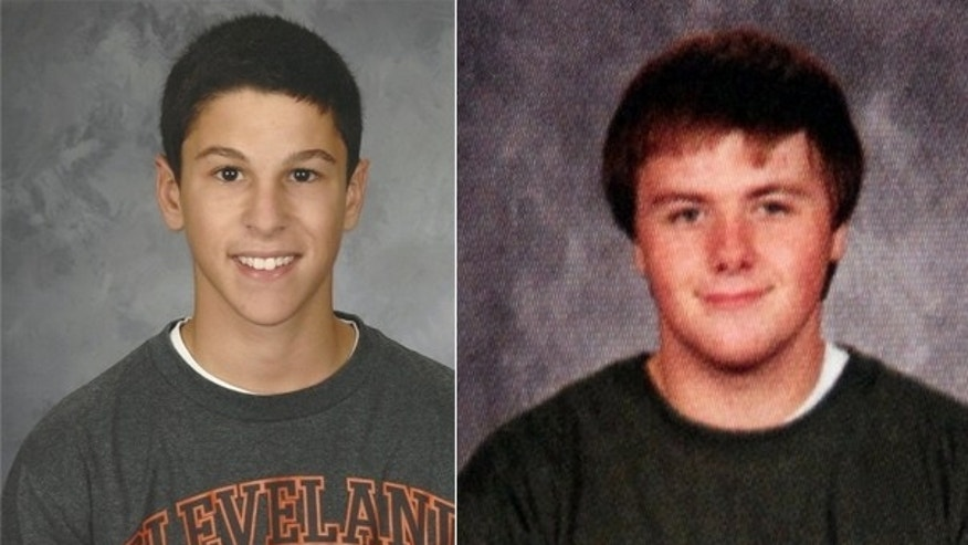 The left image, provided by family, shows Daniel Parmertor, who died Monday following a shooting rampage at Chardon High School in Ohio. Russell King Jr., right, shown in a yearbook photo, was declared dead on Tuesday, authorities said.