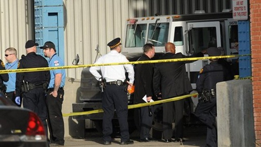 Feb. 28, 2012: Pittsburgh Police investigate a Garda armored truck where a man was found dead under the 31st Street Bridge.