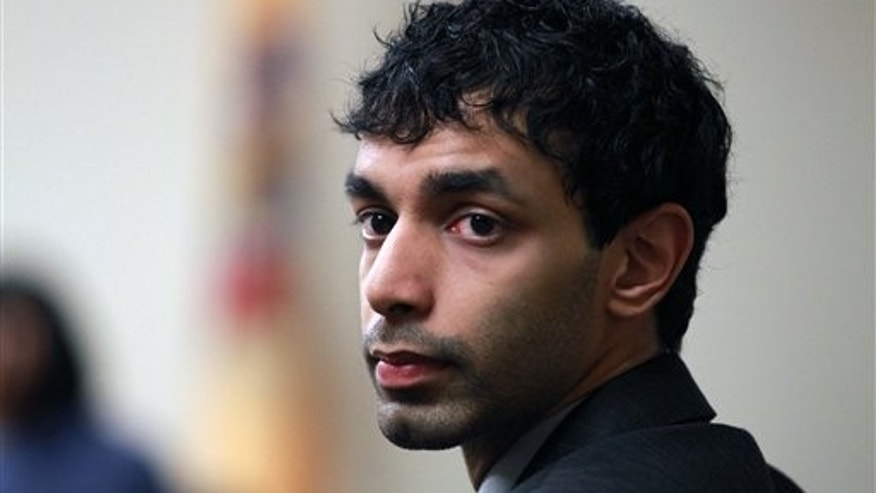 March 9: Dharun Ravi, the former Rutgers University student waits before court proceedings in New Brunswick, N.J.