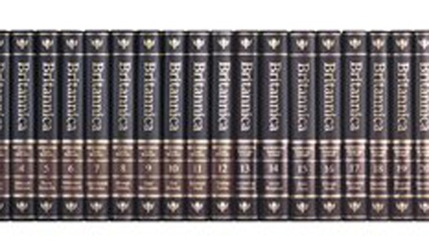 FILE: Volumes of the Encyclopaedia Britannica.