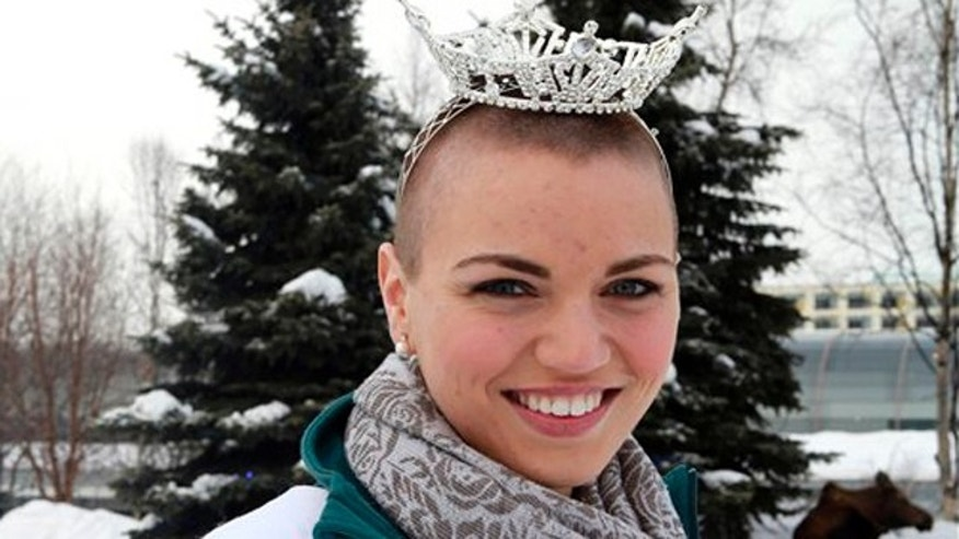 March 14, 2012: Miss Chugiak-Eagle River Debbe Ebben poses for a photo in Town Square Park in Anchorage, Alaska.