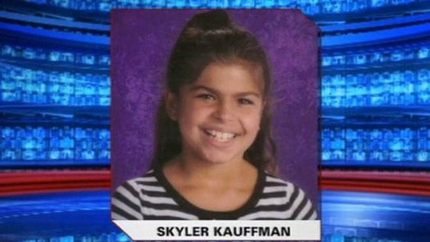 This image, provided by Fox affiliate WTXF-TV, shows 9-year-old Skyler Kauffman.