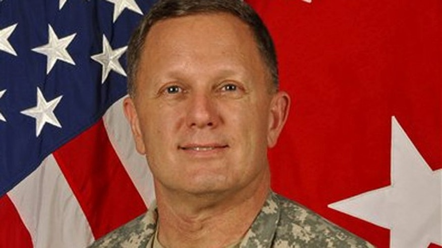 FILE: This image released by the U.S. Army shows Maj. Gen. William Mayville, the 1st Infantry's commanding general.