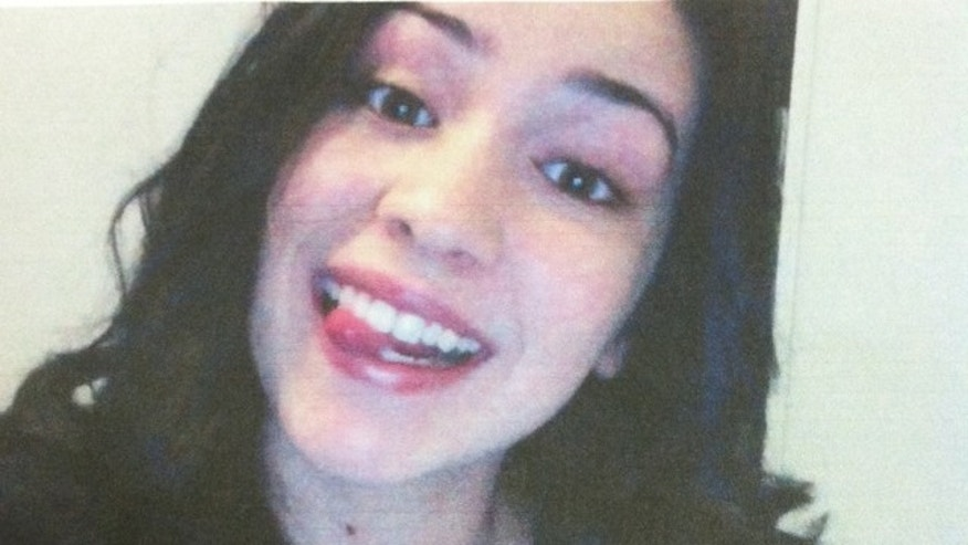 This cell phone image of Sierra Lamar was taken by her mother on the morning the teen disappeared.