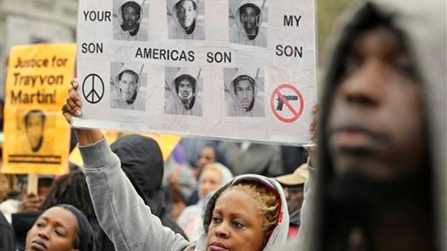 March 24: Donna Coley-Trice, joins a rally demanding justice for Trayvon Martin in Freedom Plaza in Washington.