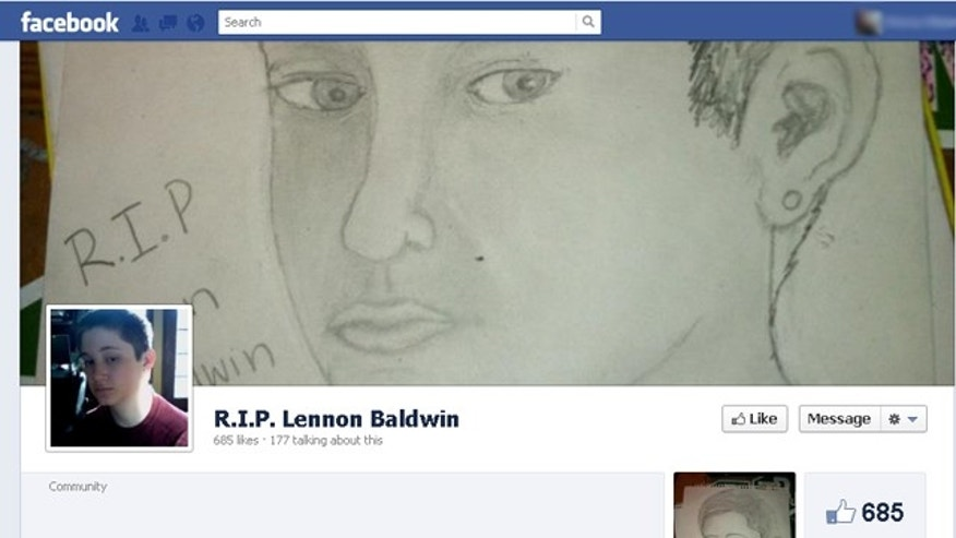 A memorial page was set up on Facebook for Morristown, NJ teen, Lennon Baldwin, who died in an apparant suicide after what many believe to be bullying from classmates.