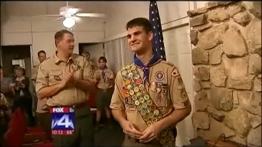 April 9, 2012: Dallas-are Eagle Scout Roland Salatino receives 17th Palm award.
