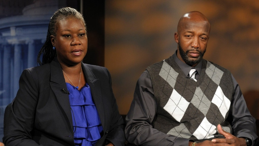 April 11: The parents of Trayvon Martin, mother  Sybrina Fulton, left, and father Tracy Martin are interviewed by The Associated Press in Washington.