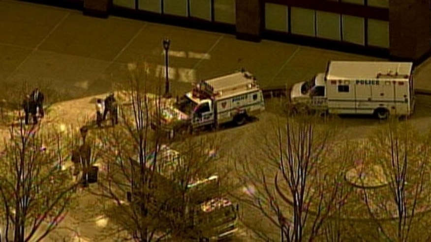 A suspicious package reportedly discovered in a loading delivery area at 2 World Financial Center lead to the building's evacuattion Thursday morning.