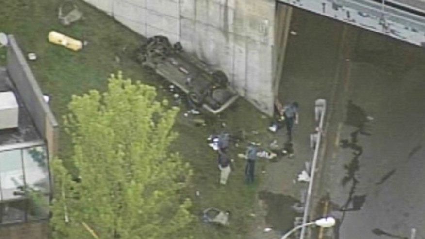 Three people are dead following an early-morning roll over crash in Boston.