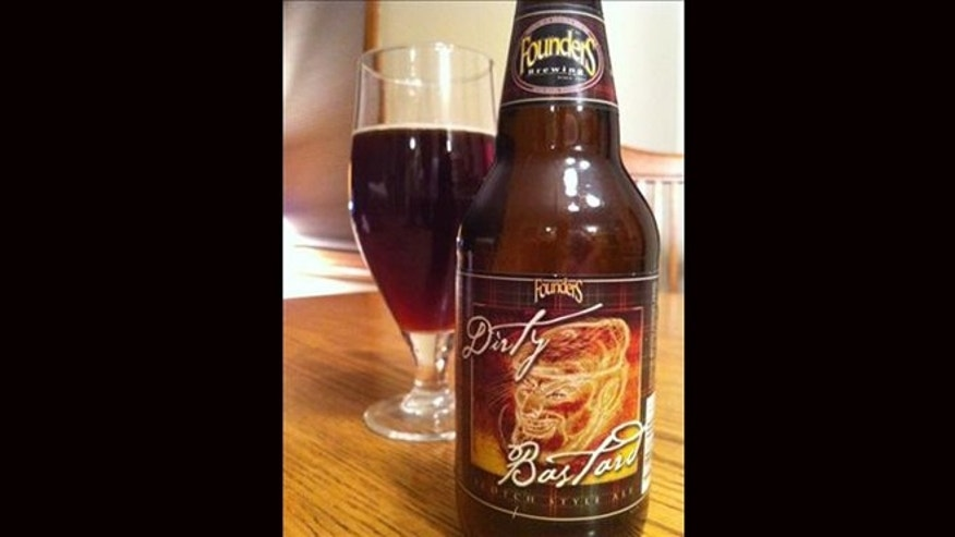 April 19, 2012: A bottle of Dirty Bastard Beer sits on a table in Mobile, Ala.  The state alcoholic beverage control agency said Thursday it has banned the sale of Dirty Bastard beer in the state because of the profanity on its label.