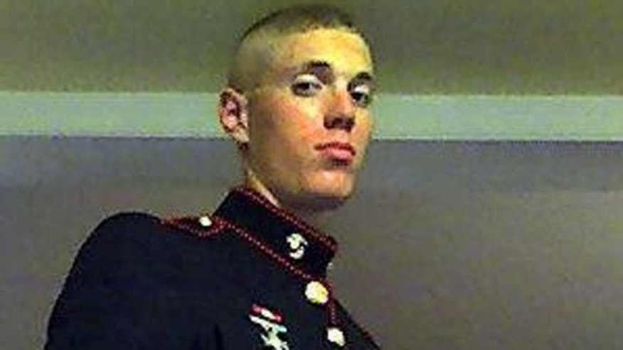 This undated image, obtained by Fox affiliate WTTG-TV, shows 23-year-old Lance Cpl. Philip Bushong, who was stabbed to death early Saturday.