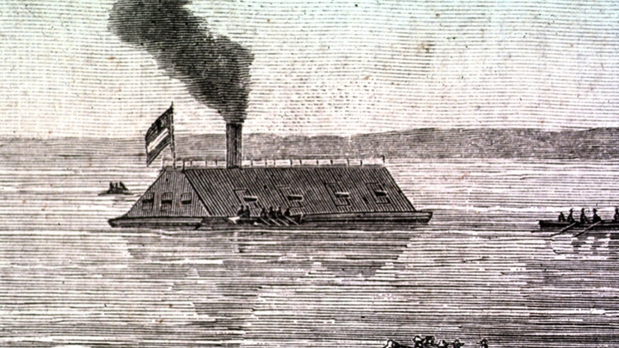 May 4, 2012: This undated image provided by the U.S. Army Corps of Engineers shows a rendering of the CSS Georgia, a Confederate warship that sank in the Savannah River nearly 148 years ago in Savannah, Ga.