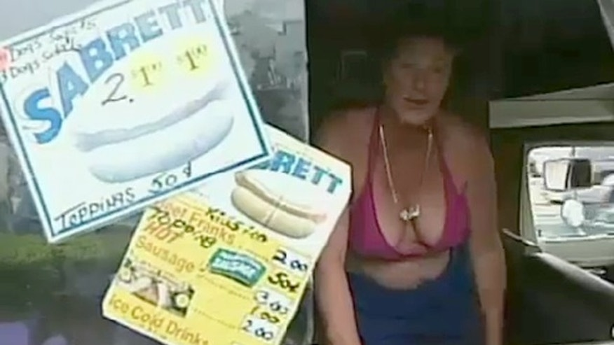 Catherine Scalia, who says she loves showing off her body and selling hot dogs, was shut down on a technicality—she didn't have a permit to sell food from a truck in the town of Hempstead.