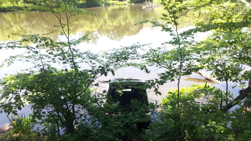 Frank Roders' Jeep took a bath, but he saved his son.