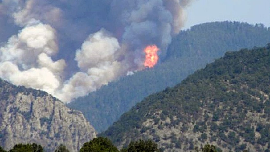 A massive wildfire has sparked evacuations in Mogollon, N.M., a privately owned ghost town.