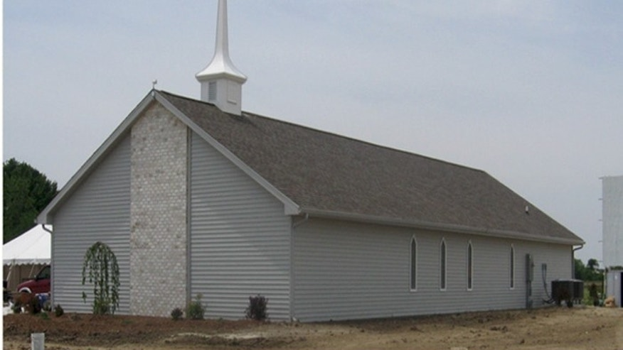 The Calvary Tabernacle Church, in Perry, Iowa, went up in a little more than a day.