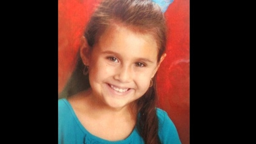 This undated photo provided by the Tucson Police Dept. shows Isabel Mercedes Celis.  Arizona's child welfare agency is prohibiting the father of Isabel Mercedes Celis,  from having any contact with his other two children, but authorities say that doesn't mean he's a suspect in her disappearance. (AP Photo/Tucson Police Dept.)
