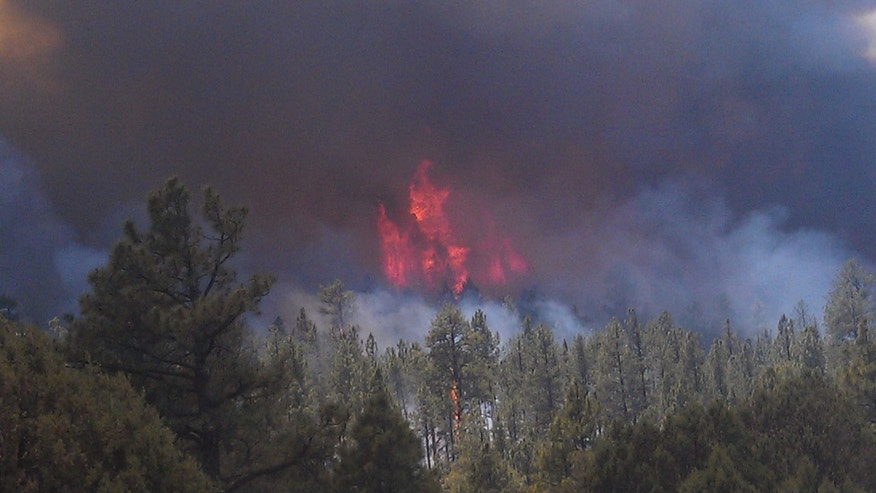 May 29, 2012: The massive blaze in the Gila National Forest, seen from Neighbors Mountain directly east of Glenwood, N.M.