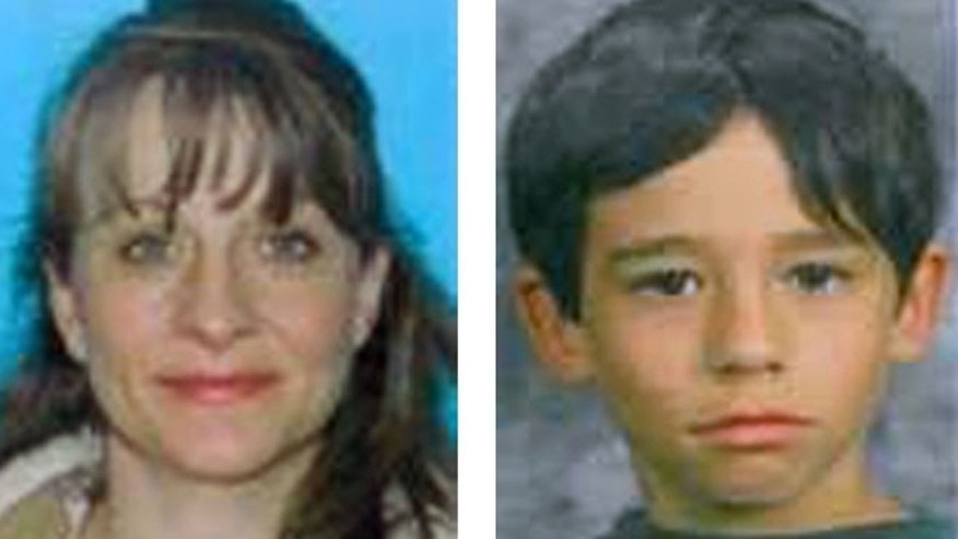 Charlotte Schilling, 41, left, and her son Owen Schilling, 10, are seen in undated photos provided by the Plattsmouth, Neb., Police Dept.