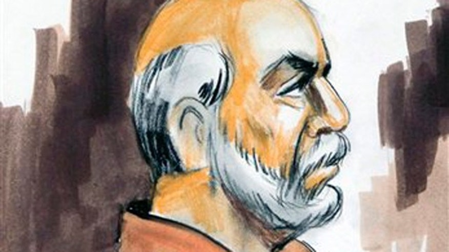 March 30, 2010: In this file courtroom sketch, Raja Lahrasib Kahn appears before U.S. Magistrate Judge Geraldine Soat Brown in federal court in Chicago.