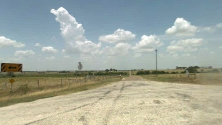 Police say a father killed a man who was trying to molest his daughter at a ranch near Shiner, Texas, on County Road 302, seen here in a screengrab from Google Street View.