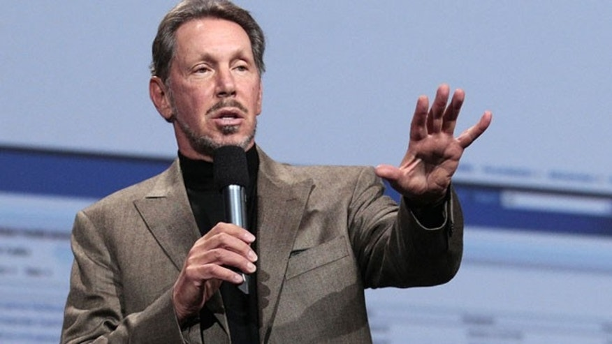 In this Oct. 5, 2011 photo, Oracle CEO Larry Ellison speaks during the Oracle OpenWorld Keynote in San Francisco. Ellison has reached a deal to buy 98 percent of the island of Lanai from its current owner, Hawaii Gov. Neil Abercrombie said Wednesday, June 20, 2012.