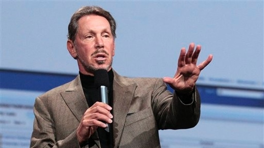Oct. 5, 2011: Oracle CEO Larry Ellison speaks during the Oracle OpenWorld Keynote in San Francisco.